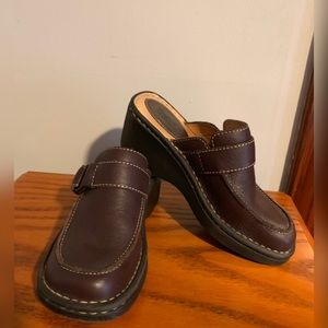 BORN Genuine Leather Clogs